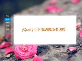 jQuery仿百度首页上下滑动内容选项卡切换代码