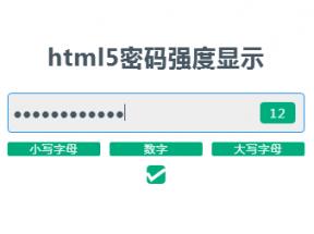 vue.js适用于手机注册表单输入密码强度验证