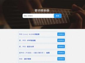 网页歌词搜索音乐代码