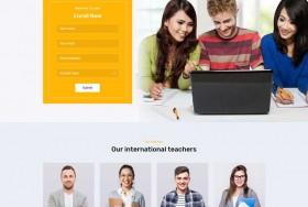 在线课程教育培训HTML模板