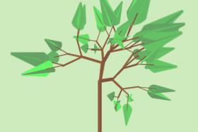 纯css3绘制摇晃的树动画特效