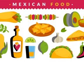 美味可口的墨西哥食物食品图标素材下载