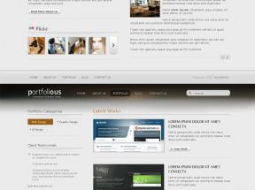 简洁的商务企业网站静态模板html下载