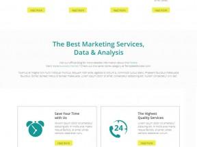 绿色简洁的自适应商务企业静态网站模板