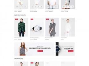 简洁的品牌服装店网上购物商城模板