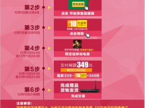 淘宝天猫聚划算预售抢拍攻略专题页面psd模板下载