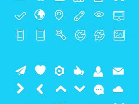白色扁平风格的手机界面图标集素材