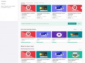 在线视频课程学习平台网站HTML模板