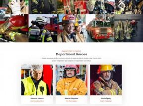 大气的消防网门户Bootstrap网站模板