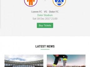 足球体育赛事资讯手机响应式模板