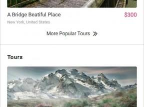 红色的旅游公司手机模板
