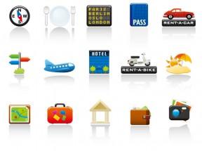 15种精美的旅游度假元素图标素材