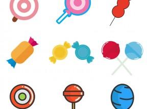 卡通的糖果图标集素材下载