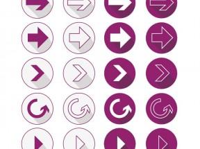 紫色的右边箭头符号图标大全PSD素材下载
