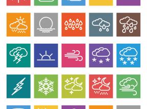 实用的天气预报图标大全PNG素材