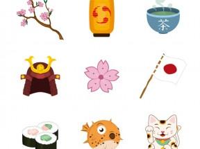 精美卡通的日本元素图标素材下载