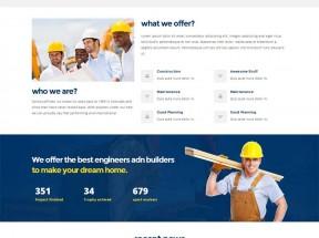 蓝色大气的房屋建筑工程公司网站html5模板