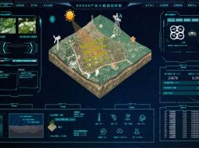 农业生产大数据投屏模板