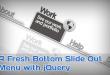 jQuery底部滑出菜单_鼠标悬停滑动导航条