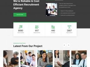 企业人力资源管理行业网站模板