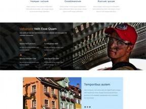 黑色的房屋建筑施工公司网站静态模板