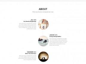 黑色html5响应式设计师个人展示网站单页模板下载