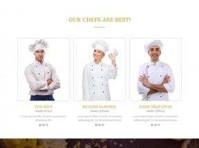 宽屏的国外餐厅美食网站静态模板下载