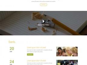 简单宽屏的儿童教育培训网站模板html整站