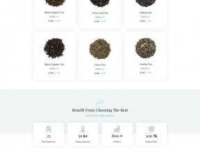 品牌茶叶销售商店网站模板