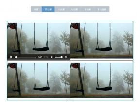 js视频监控分屏切换显示代码