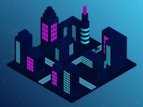 卡通的3D城市景观特效