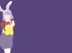 女生 兔子耳朵 极简单主义 4k动漫壁纸