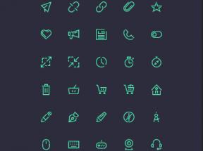 绿色线性的手机页面小图标素材下载
