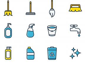 卡通的保洁清洁工具图标PNG素材