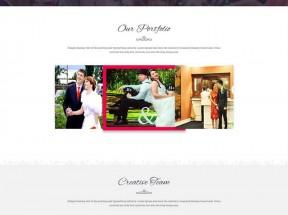 html5大气的婚纱摄影婚礼策划公司网站模板