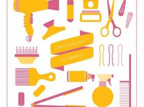 实用的理发店图标大全AI素材