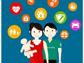 创意的家庭生活元素图标素材下载