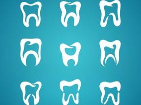 九种创意的牙科牙齿图标设计素材下载