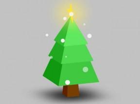 css3雪花圣诞树动画特效