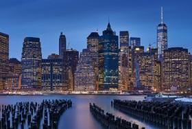 曼哈顿城市风景3440x1440壁纸