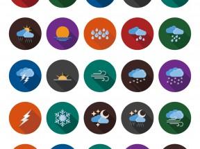 精美卡通的天气图标大气PNG素材