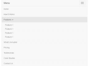 html5 Bootstrap手机响应式导航下拉菜单代码