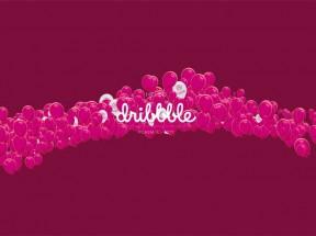 html5粉色的气球飘过元素背景