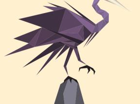 css3绘制雕塑svg折纸鹤动画特效