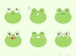 纯css3绘制可爱青蛙表情动画特效