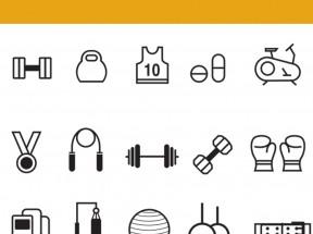 线性的健身房图标PNG素材