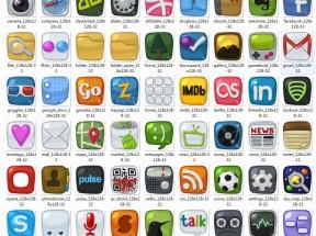 创意复古的手机软件app图标大全素材