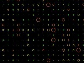 canvas绘制彩色圆圈动画特效