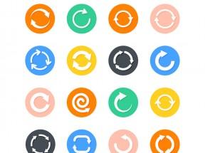 圆形的循环箭头图标大气_刷新箭头图标素材