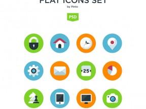 扁平化彩色简洁icon图标素材psd